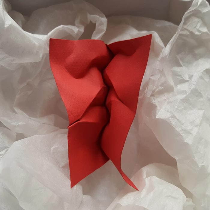 Paper Art Folding of the Paper into Faces