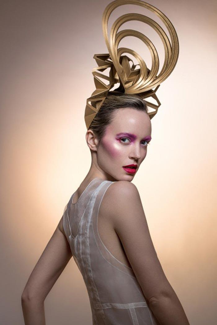 New York Designer Creates Stunning Paper Headpiece