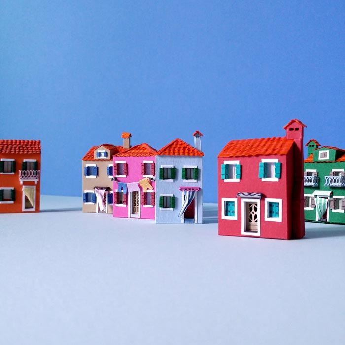 Inspired by the beautiful scenery of Burano Island, Italy.