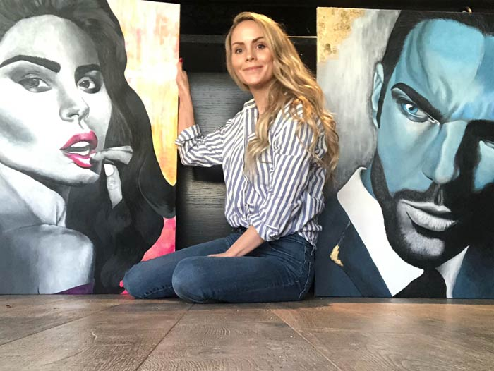 Line Mari Kristoffersen - diy canvas painting ideas