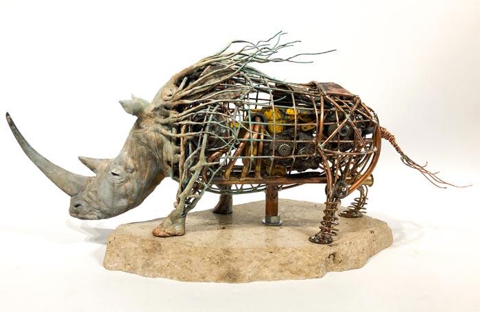 Artist Chris Hynes Turns Scrap Metal Into Incredible Animal Sculptures