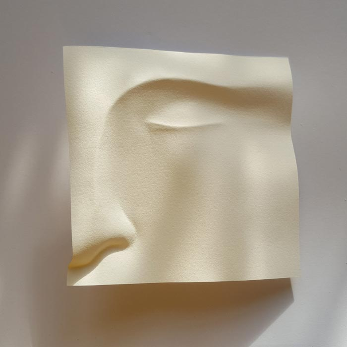 paper art and craft Folding of the Paper into Faces