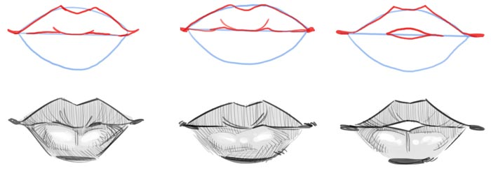 how to draw style lips