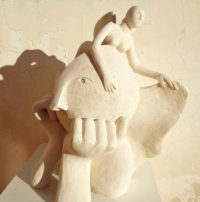 Flight Desire - Elisaveta Sivas Artist Creates Allegorical Sculptures