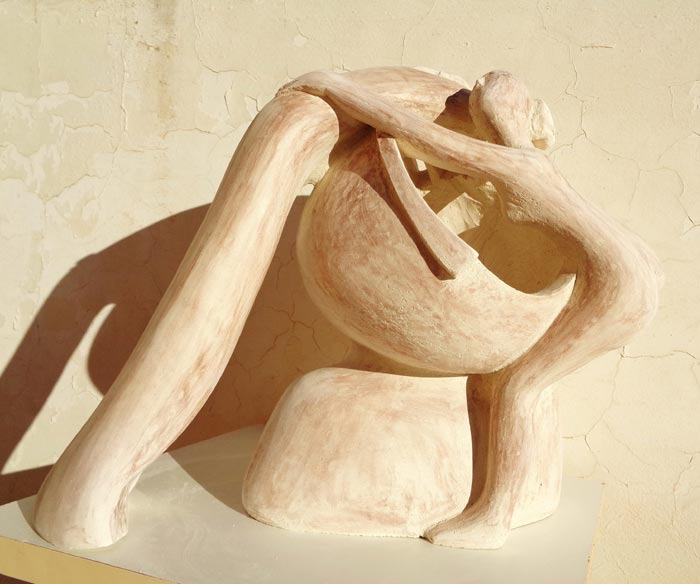 Into His Mind - sculpture of a woman
