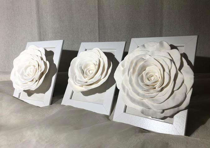 Beautiful Rose Sculptures and Decorative Objects