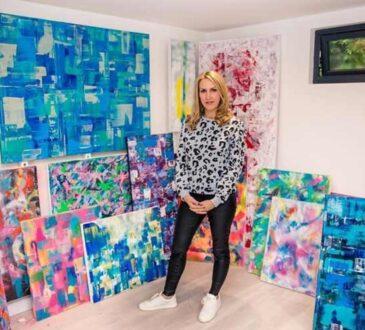 Self Taught Abstract Artist Rachel Camilleri