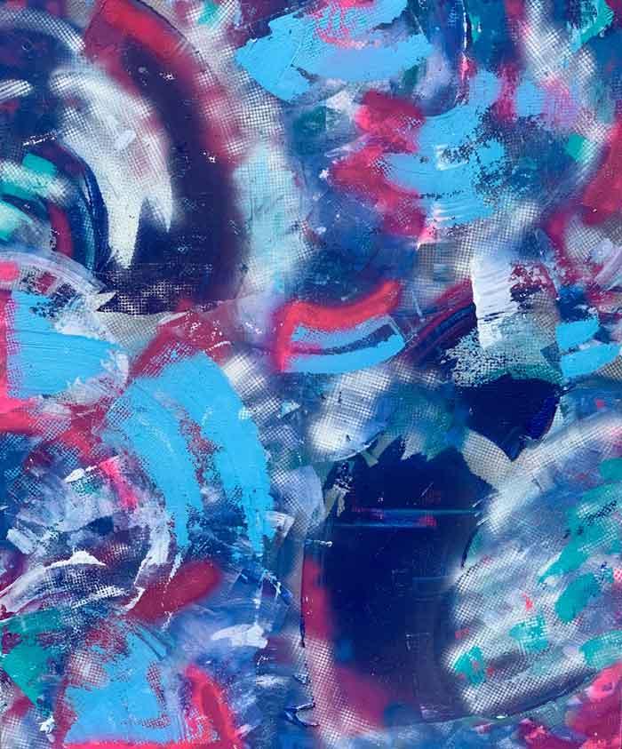 Believe - Acrylic and Spray Paint on Canvas