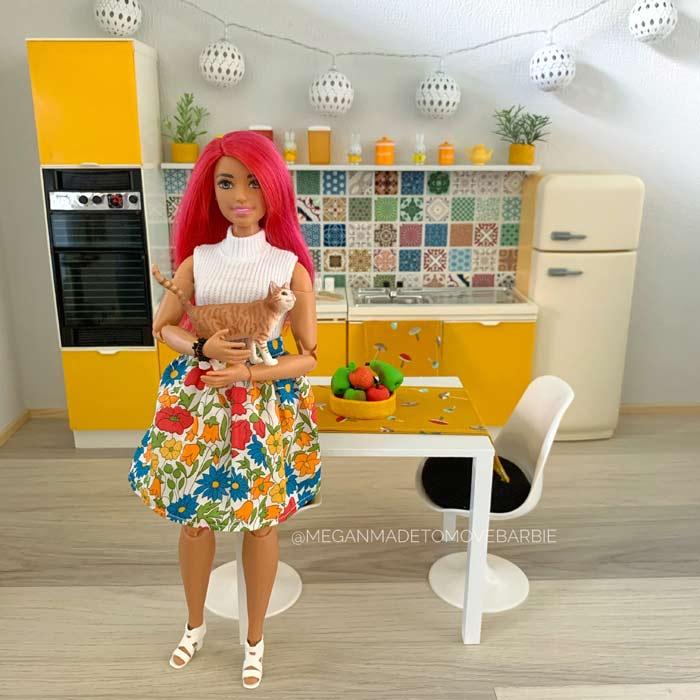 Megan in the kitchen