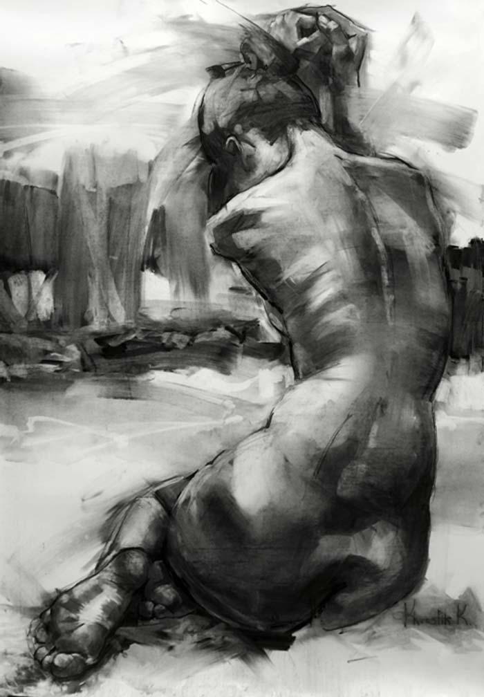 Paintings Of Female Nude Figure Art Model