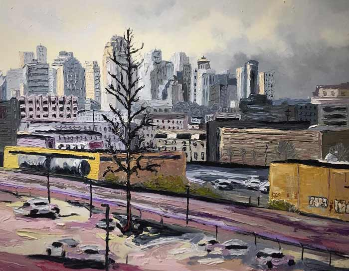 Artist Creates Natural and Urban Landscapes Using Gamblin Oil Paints