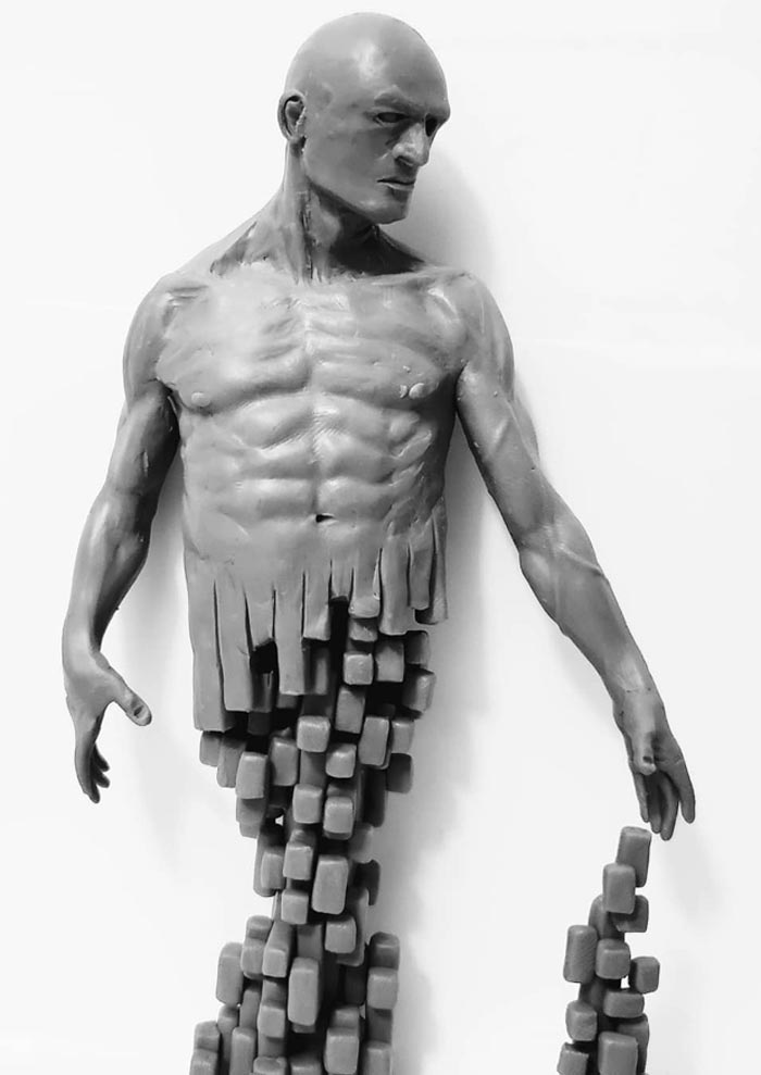 Self-taught Sculptor My Work Explores Concepts of Humanity