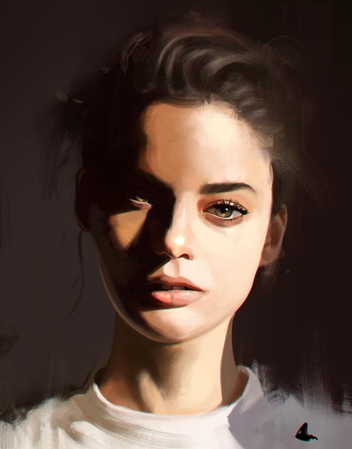 Realistic Portrait Digital Paintings by Aljosa