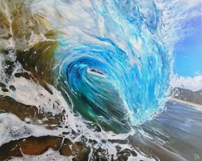 Alesia Habovych Artist Modern Contemporary Ocean Art Paintings