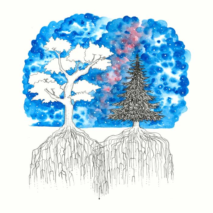 Together our Roots Grow Deeper watercolor painting