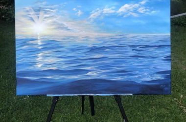 Paintings Of Ocean Water and Sky With Acrylic Paint