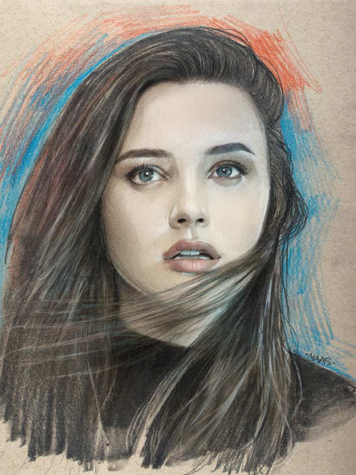 Katherine Langford Realistic Portrait