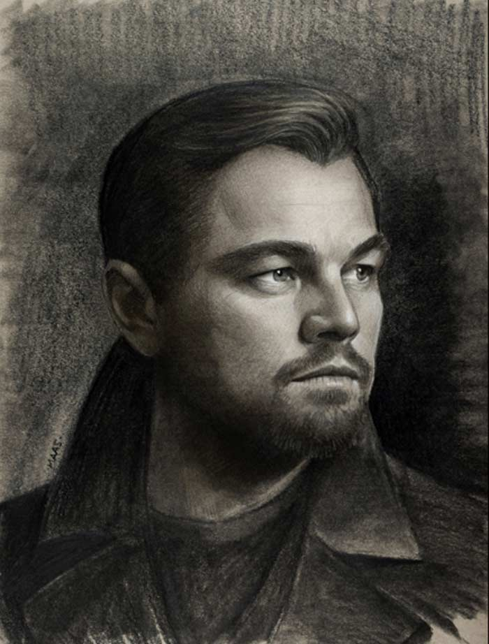 Realistic Portrait of Leonardo Dicaprio