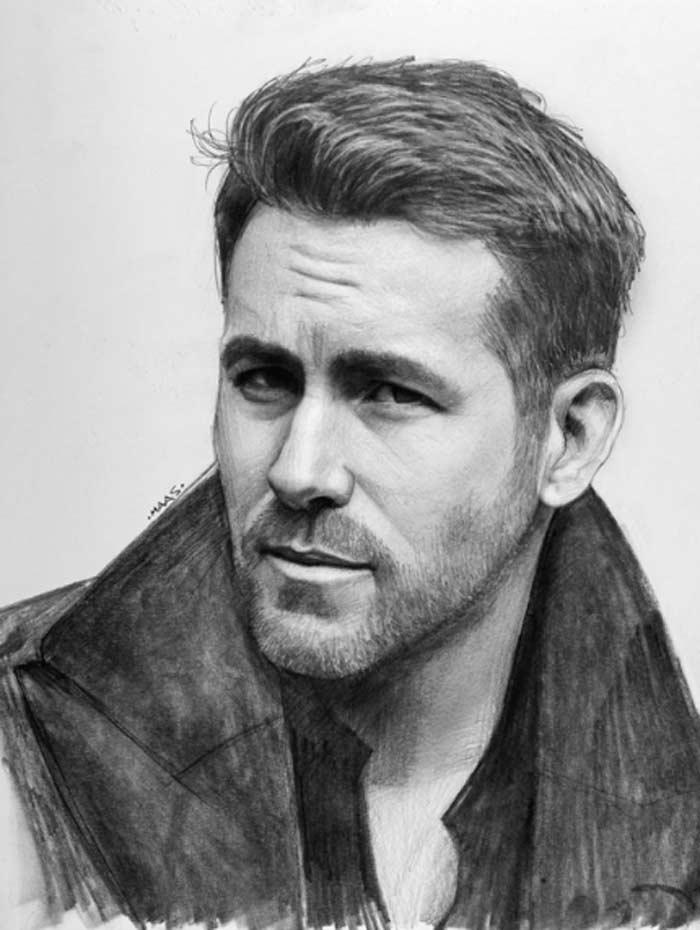 Ryan Reynolds Realistic Portrait
