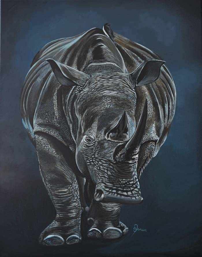 Realistic painting of animals
