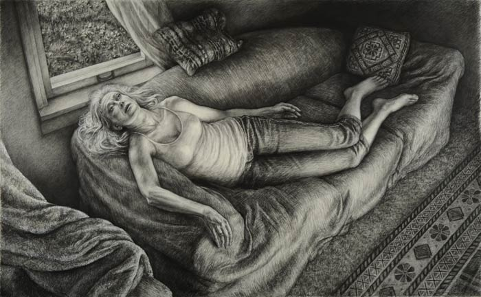 Artist Edgar Jerins narrative artwork tells a story