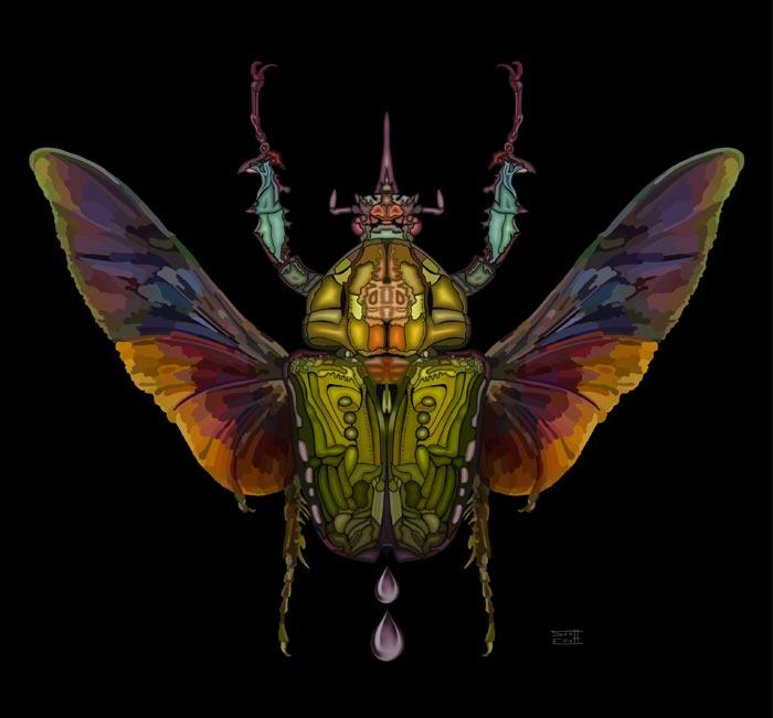 Beetlejuice digital painting Artist Scott Elliott