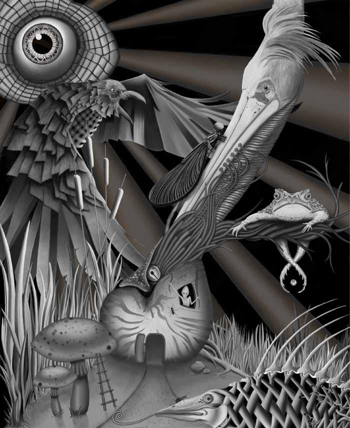Eye in the sky digital art Artist Scott Elliott