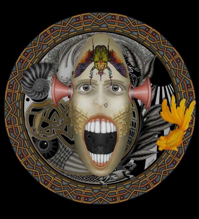 Horn Head digital painting techniques Artist Scott Elliott