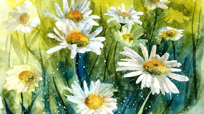 Watercolor painting florals