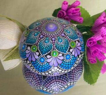 Hand-painted beautiful dot mandala designs on stones