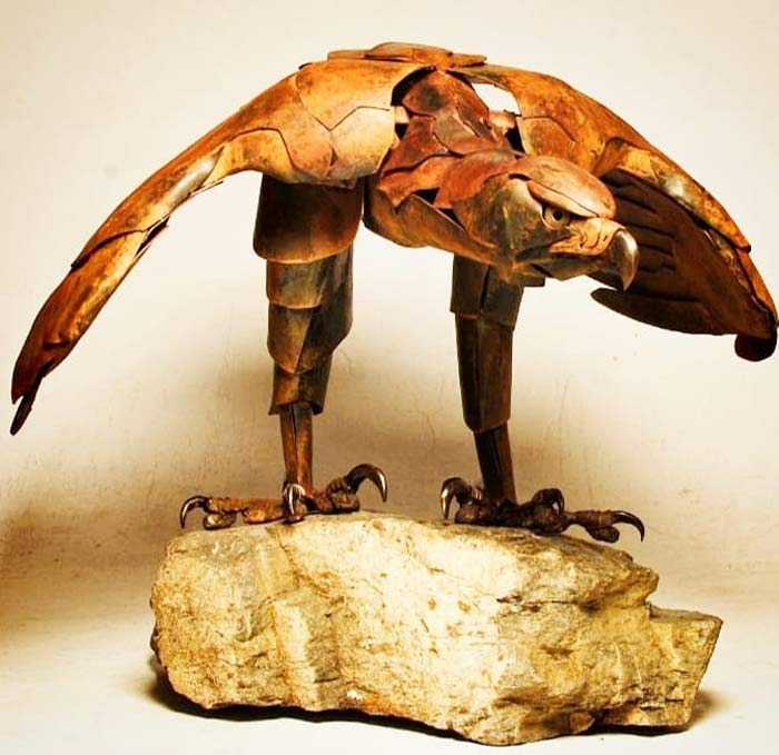 Turing Scrap Metal Into Art Sculptures