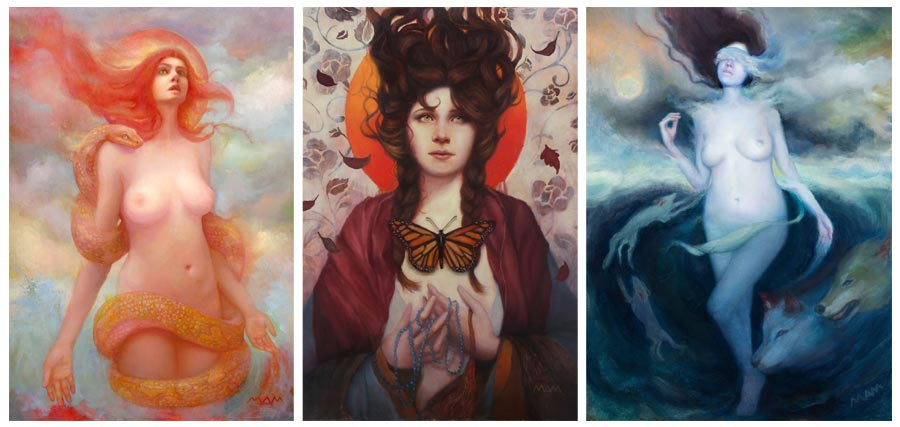 Figurative and narrative, created mainly in oils