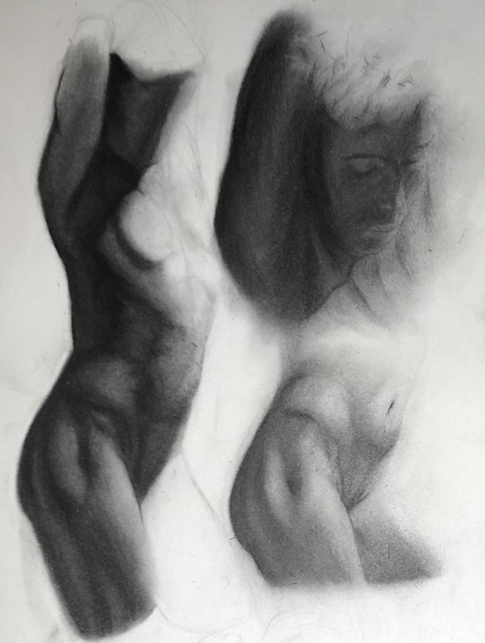 Self-Taught Artist Creates Impressive Charcoal Drawings