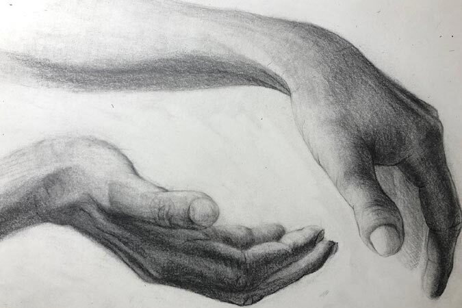 Self-Taught Artist Creates Impressive Charcoal Drawings