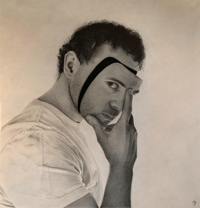 The darkness inside Self-portrait Artist Francesco Galmarini