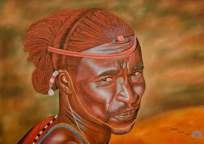 Brandon Alfredo's African Art Paintings Of The Maasai Tribe