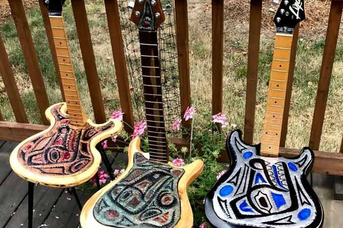 Turns Scrap Metal Into Guitar Sculptures