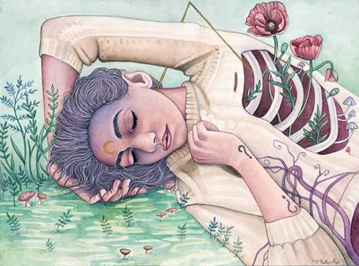 Fine Artist Kaitlyn Page Surrealism Portrait Paintings