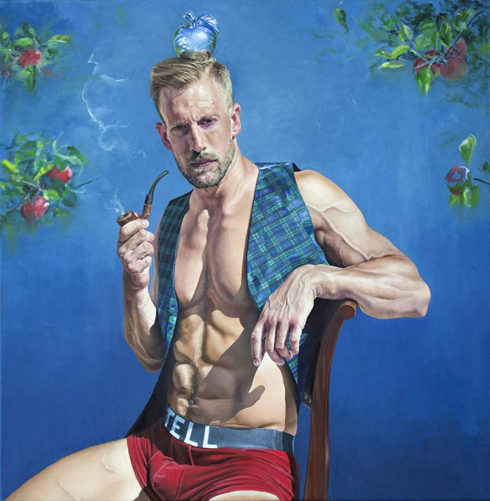Realism painting male figure