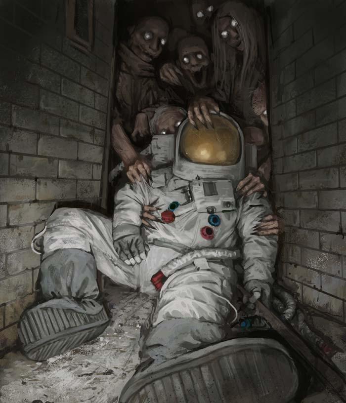 Stefan Koidl illustrator artist creates creepy illustrations