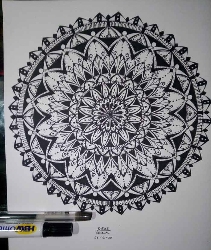 Pencil Mandala drawing by Jovelle Mae S. Elicanal
