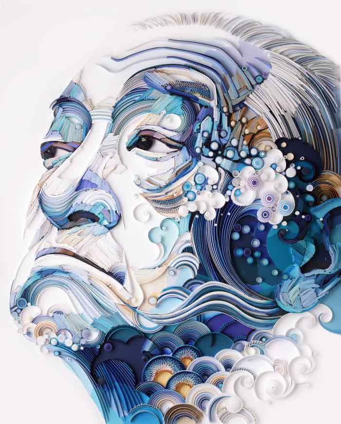 Make quilled paper portrait by Yulia Brodskaya