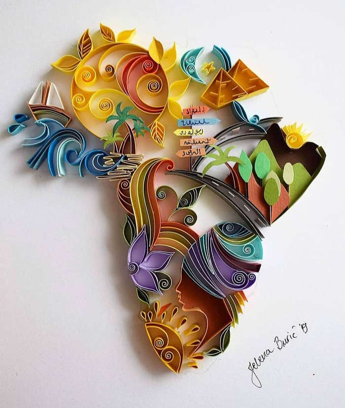 Beautiful Quilling Art Designs Wall Art for Home Decor