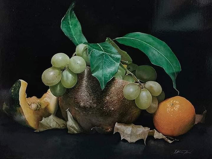 Hyperrealism art still life painting by Michele Darmiento