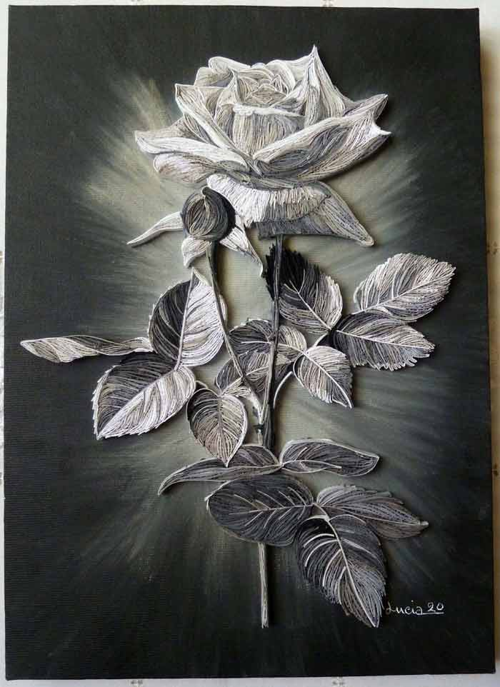 Beautiful Paper Quilling Painting by Lucia