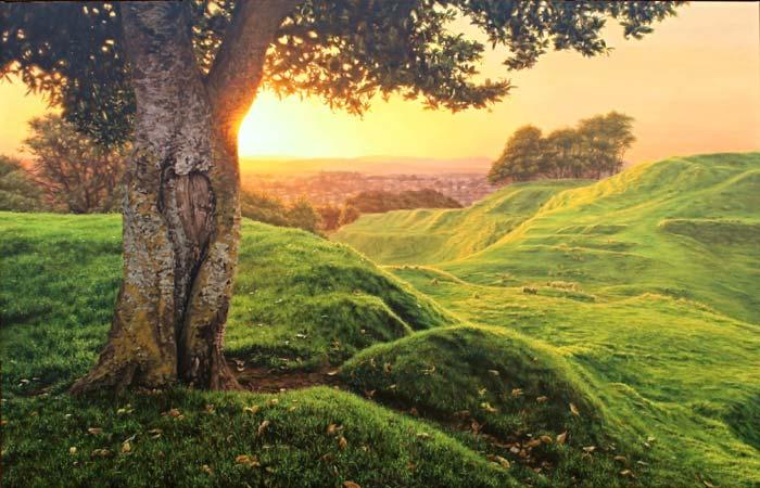 Hyper realistic landscape painting by Rosanne Croucher