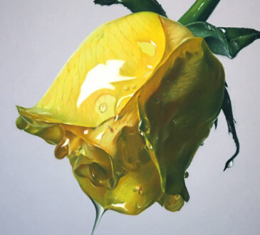 Brian Owens Art realism pastel drawings of flowers dripping honey