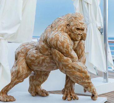 beautiful gorilla sculpture by wildlife artist Olivier Bertrand
