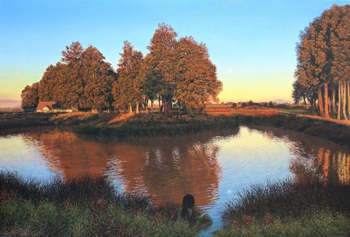 Riverside paintingby Rosanne Croucher