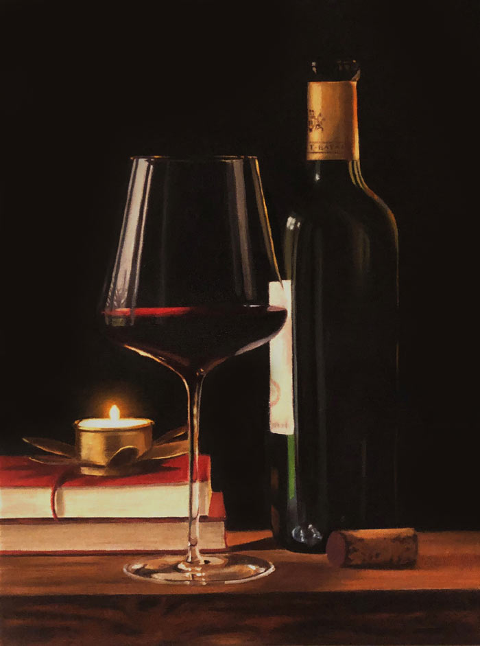 Realistic Still Life in oil paints by Rebecca Ritchie